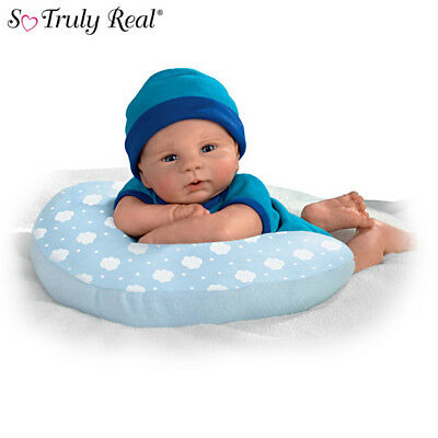 Ashton Drake - CUDDLE BUDDY baby boy doll with Cozy Pillow by Violet Parker