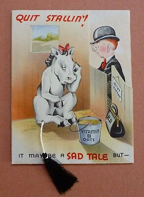 Humorous Get Well Card-Cow Wearing High Heels & Pink Corset-real cord