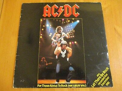 """AC/DC - For Those About To Rock - 12"""" Vinyl Single Record - UK"""