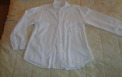 ZARA - Girls White Long sleeved shirt - To Fit Age 7-8 Yyears