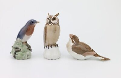 3x Royal Copenhagen & Bing Grondahl Figurines
