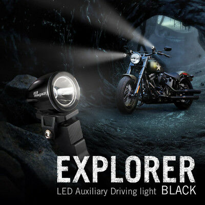 "moto scooter 1.6"" rond back up lampe LED mini spot noir housing x1"