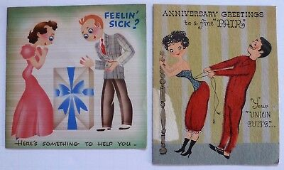 Get Well,Anniversary Cards-Cute Couple,Husband,Wife Man,Lady-Corset w/real cord