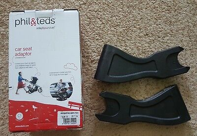 Phil&Teds Phil Ted Car Seat Adaptor TS26 V3 Replacement Part Recall Black New