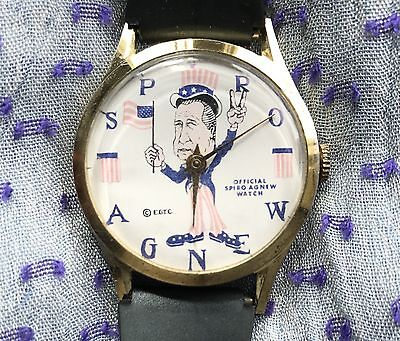 Vintage Official Spiro T. Agnew Wind Up Watch Swiss by EGTC