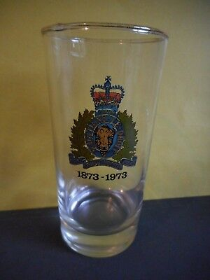 Royal Canadian Mounted Police Anniversary 1873-1973 Vintage Drink Glass,RCMP