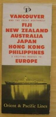P&O LINES 1959 Booklet Vancouver to the Pacific