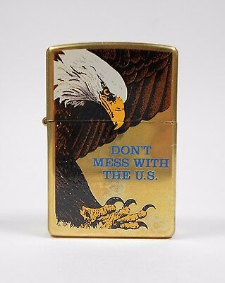 Zippo Don't Mess With the US Bald Eagle FACTORY SEALED 2001 NEW America Lighter