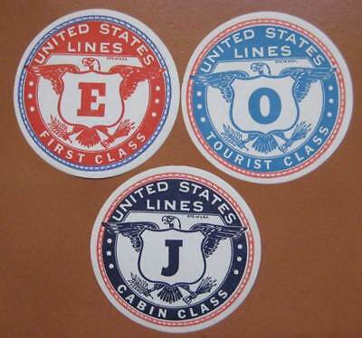 UNITED STATES & AMERICA Baggage Sticker Set