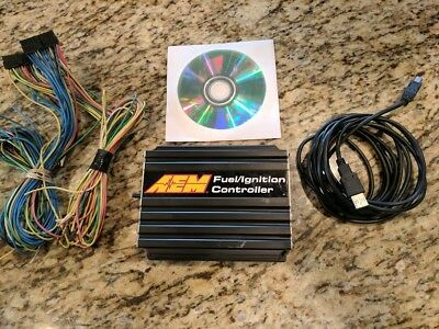 AEM FIC FUEL IGNITION CONTROLLER with HARNESSES!! 6 CHANNELS f/ic safc 30-1910