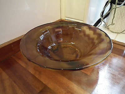 Davidson Brown Cloud Glass Bowl With Frog