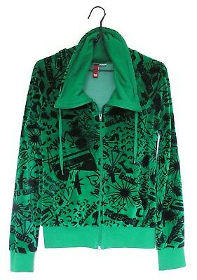Top Zip Up Jacket DIVIDED by H & M Size 36 Girls Teens Ladies Green & Black