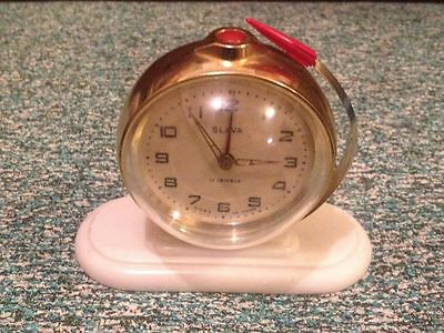 Slava wind up 11 jewel Atomic Rocket , globe Alarm clock
