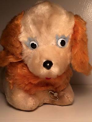 Vintage wind up musical mohair child's dog toy made in Japan works