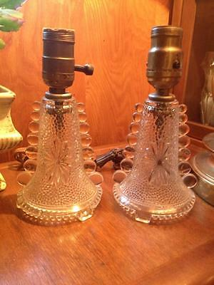Pair Of 1930s Candlewick boudoir lamps