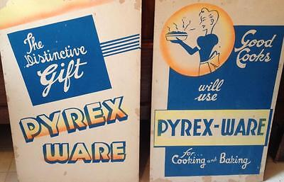 Original Cardboard lithograph Pyrex store advertising displays