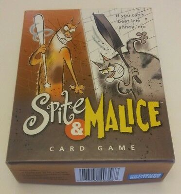 Spite and Malice Card Game by Parker Brothers 2002, cats, 2-5 players, COMPLETE!