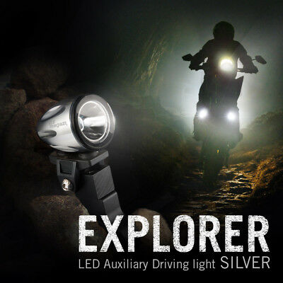 "moto scooter 1.6"" rond back up lampe LED mini spot d'argent housing x1"