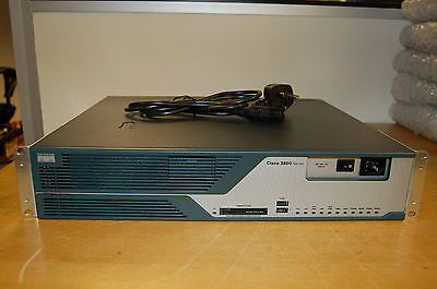 Cisco3825 Router 512MB 128MB & Brackets Cisco 3825 45 Day Warranty 3800 Series