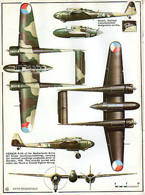 Fokker G.1 German Fighter/Bomber. Aircraft Profiles Publications No. 134.