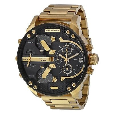 Brand New Diesel Mr Daddy 2.0 57Mm Chronograph Stainless Steel Men Watch Dz7333
