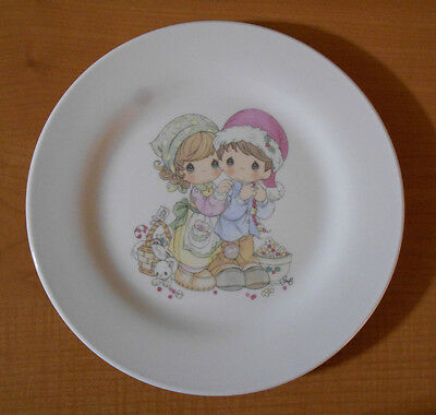 Precious Moments 2007 Christmas Plate with Boy & Girl
