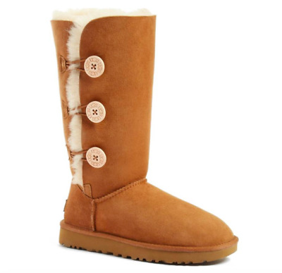 UGG Women's Bailey Button Triplet II Boot - CHESTNUT