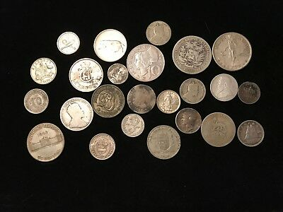 T2: World Silver Coin Lot: 100 Grams Silver
