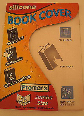 Promarx Silicone Book Cover Waterproof, Stretchable, Writable Surface NEW