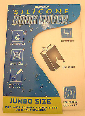 Kittrich Silicone Book Cover Water Resistant, Stretchable, Writable Surface NEW