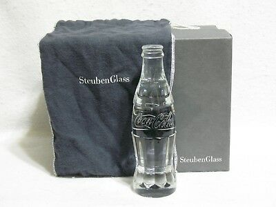 Steuben Crystal Coca Cola Bottle  May 2011 CEO Gift at 125th Anniversary Dinner