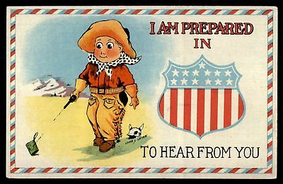 Mayfairstamps  I AM PREPARED IN TO HEAR FROM YOU LITTLE COWBOY SERIES 510 JMP PO
