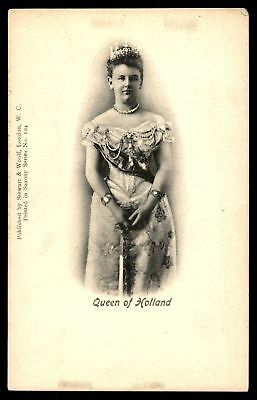 Mayfairstamps  QUEEN OF HOLLAND SERIES 104 BY STEWART & WOOLF POSTCARD