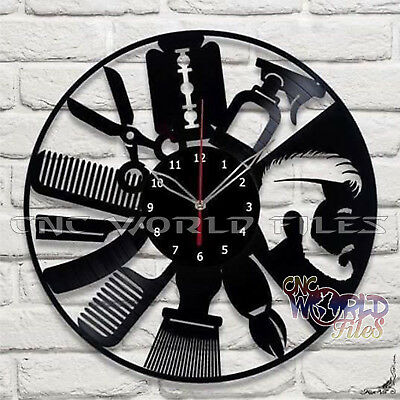 DXF CDR and DWG File For CNC Plasma or Laser Cut - Beauty Salon Watches CLOCK