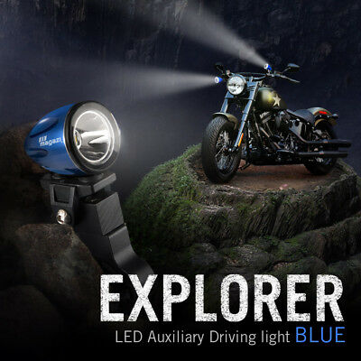 "moto scooter 1.6"" back up lampe LED mini spot waterproof bleu x1"