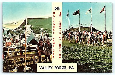 Postcard Boy Scouts BSA 6th National Jamboree Valley Forge Lancaster PA R01