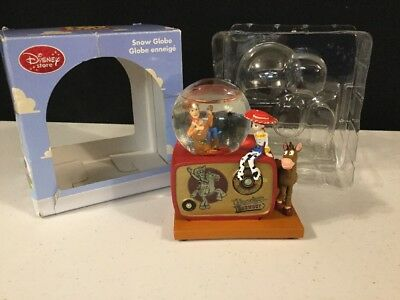 Disney Pixar TOY STORY WOODY'S ROUNDUP Old Time Radio Mini Snow Globe