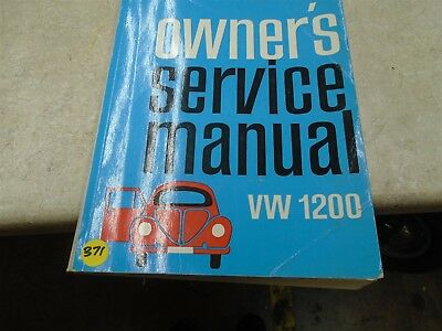 Volkswagon VW 1200Used Owners Service Manual VP 70s VP-CM371