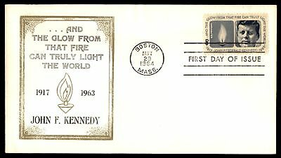 Mayfairstamps US FDC 1964 JOHN F KENNEDY MEMORIAL STAMP CACHET UNSEALED