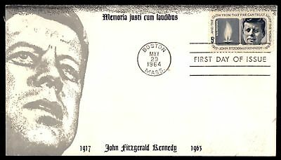 Mayfairstamps US FDC 1964 JOHN F KENNEDY US 5c ISSUE CACHET UNSEALED