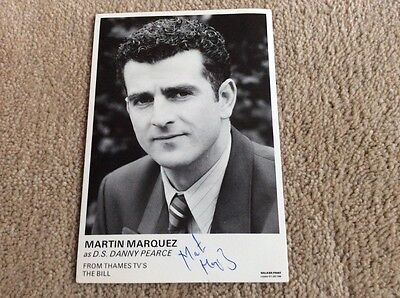 Martin Marquez As D.s. Danny Pearce The Bill Hand Signed Vintage Card