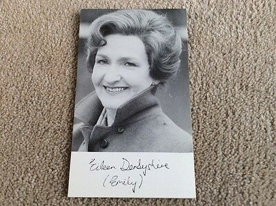 Eileen Derbyshire As Emily Bishop Coronation Street Pre Printed Signed Card