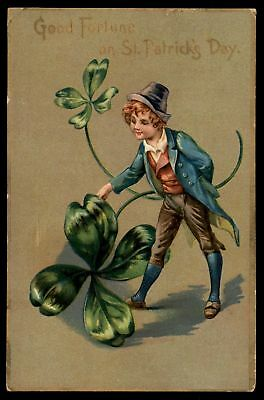 Mayfairstamps 1910 GOOD FORTUNE ON ST PATRICKS DAY SERIES 106 EMBOSSED POSTCARD