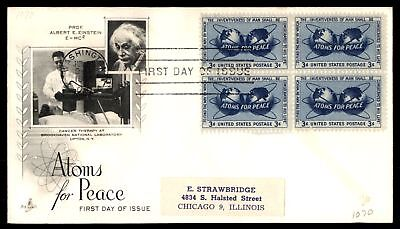 Mayfairstamps US FDC 1965 ATOMS FOR PEACE BLOCK ARTCRAFT SC 1070 UNSEALED