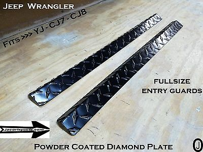 1976-95 JEEP Wrangler YJ-CJ7 Large  Door Entry Guards Diamond Plate Powder Coat