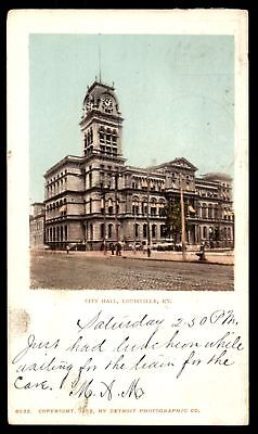 Mayfairstamps 1904 CITY HALL LOUISVILLE KY BY DETROIT PHOTOGRAPHIC CO POSTCARD C