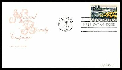 Mayfairstamps US FDC 1969 NATURAL BEAUTY CAMPAIGN FOR HIGHWAYS FARNAM SC 1367 UN