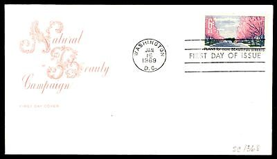 Mayfairstamps US FDC 1969 NATURAL BEAUTY CAMPAIGN FOR STREETS FARNAM SC 1368 UNS