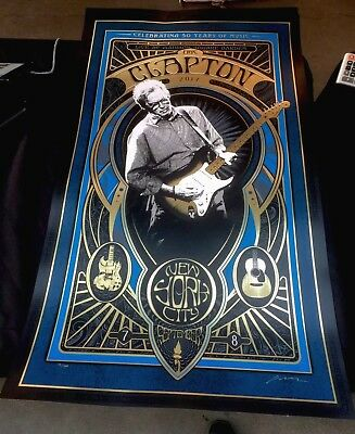 Eric Clapton Tour Poster Hand Numbered  & Signed NYC 🌴. # 171/1000