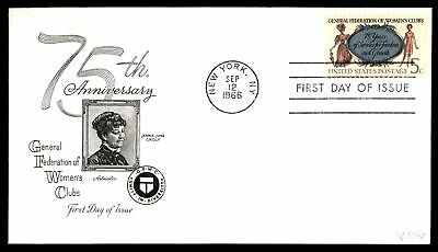 Mayfairstamps US FDC 1966 WOMENS CLUBS ARTMASTER SC 1316 UNSEALED